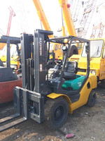 Used Komatsu forklift 3ton FD30, triplex stage, 4.5 meters, Original from Japan