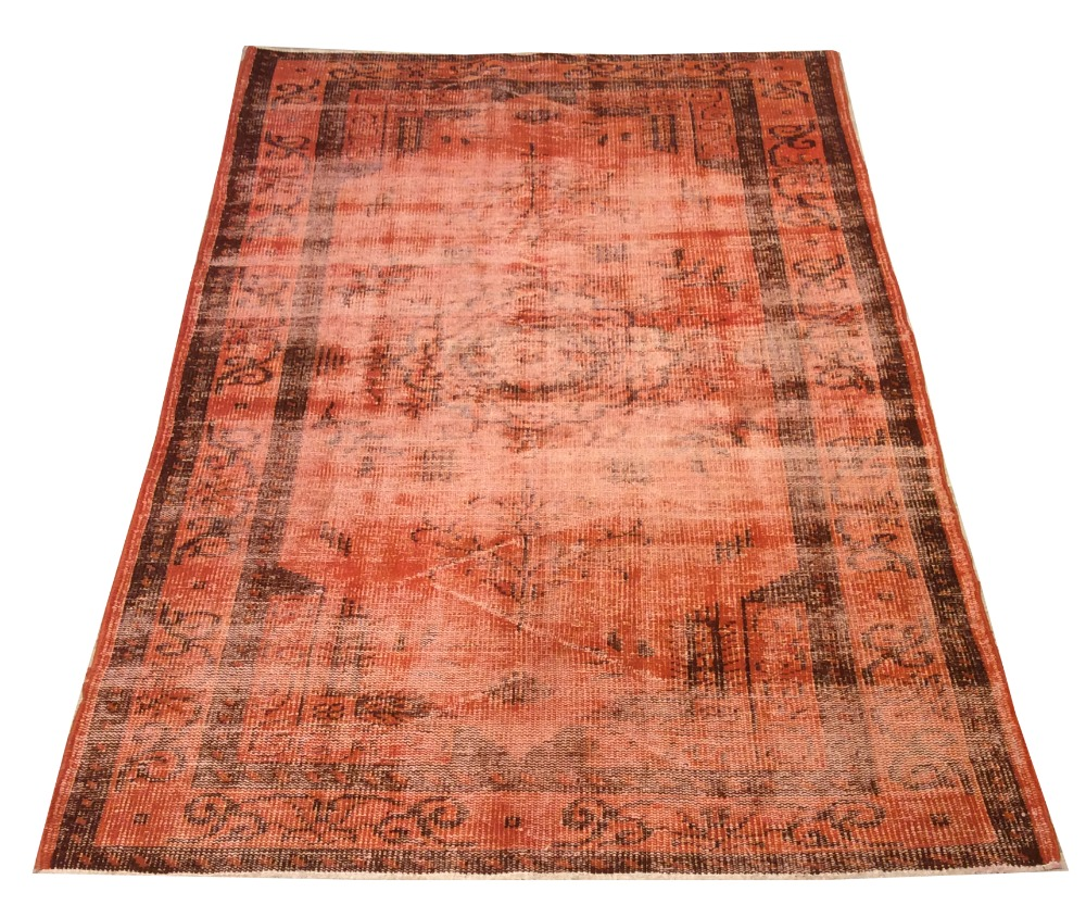 Orange tapis turkish alfombra turca rug