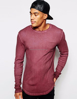 Destroyed Oversize T-Shirt/ Grey Long shirt/ Elongated Ripped Men fashion t-shirt/Black men's t-