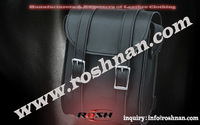Cheap Black leather saddle bags messenger bag wholesale