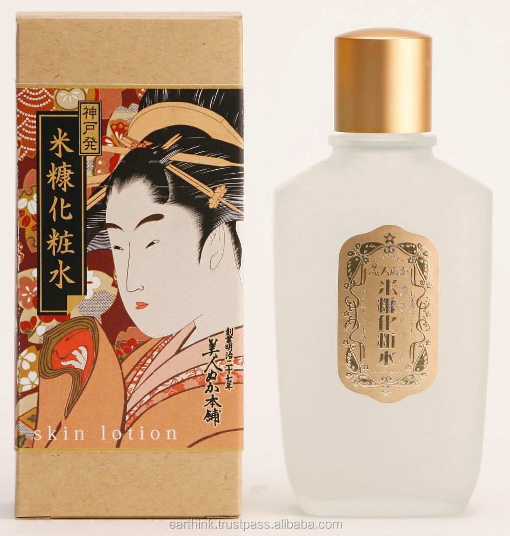 100 year cosmetics Rice Bran Skin Lotion 100mL(ukiyoe package) Made in Japan
