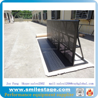 Aluminum Modular Straight Barricades Crowd Control Barriers