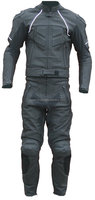 though motorcycle leather racing black suit