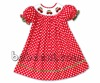 Cute X-mas tree car smocked bishop dress