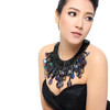 Handcrafted Sparkling Dark Colors Crystal Collar