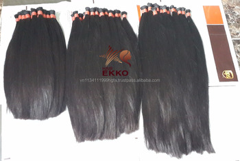 7A grade Peruvian hair Bulk 100% virgin human hair Bulk 3pcs/lot Silky Straight Bulk Hair In stock for black women