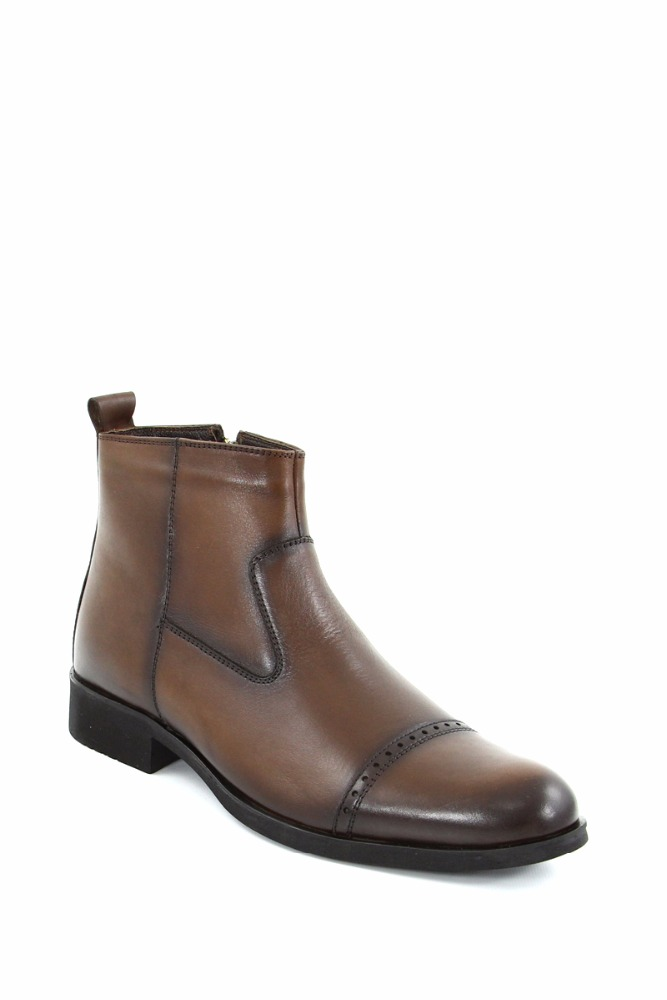 Rubber Sole Genuine Leather Men Boots