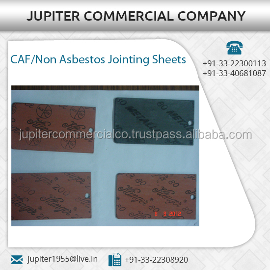 Flexible and Solid Material of Jointing Sheets / Gaskets Available from Reputed Seller