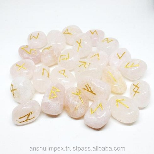 Wholesale Rose Quartz rune sets, runes stones, wholesale runes.