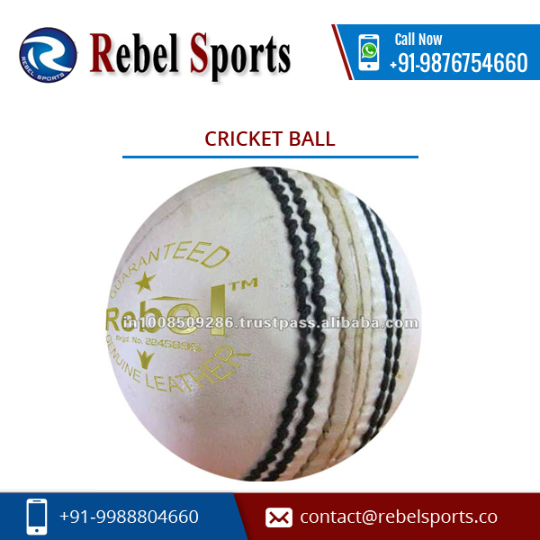 Uniquely Shaped White Colour Cricket Ball with Excellent Performance