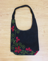Chain Stitch Embroidery Hobo Bag Women's Shoulder Bag