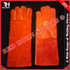Best Red Cow Split Welding Gloves, Great Protection Against Fire and Slags