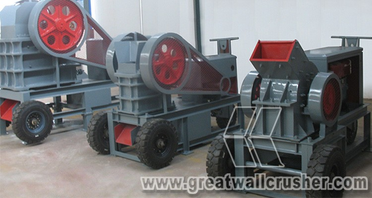 Great Wall Supplier Small Diesel Stone Crusher Machine for Sale