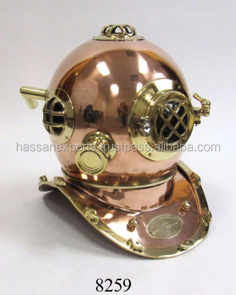 Nautical Divers Diving Helmet Copper Diving Helmet