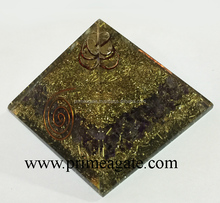 Orgone Amethyst Copper Layered Pyramid : Wholesale Quality Orgonite From INDIA