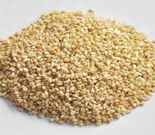 white natural sesame seeds