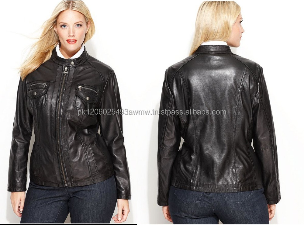 Plus Size Leather Jackets for girls Casual leather jacket women plus size clothing