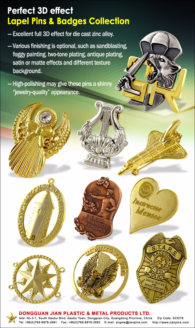 JIAN Wholesale SGS Approved Custom Bulk Lapel Pin