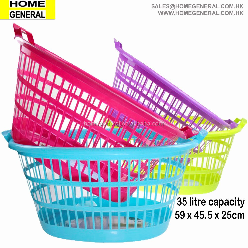 BASKET GENERAL, HIP HUGGING STYLE FAMILY LAUNDRY BASEKT, LAUNDRY BASKET WITH 3 HANDLES, PLASTIC LAUNDRY BASKET, 2016 HK