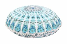 Large Mandala Floor Pillows Round Pillow Cover Ottoman Pouf Pom Pom Pillow Cases