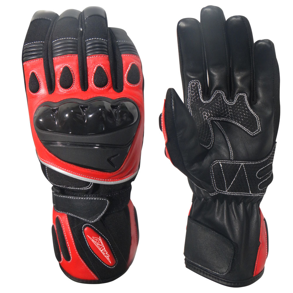 New Black Pro-Biker Carbon Fiber Bike Motorcycle Motorbike Racing Gloves M/L/XL