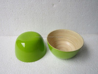 Multi function mixing bowl bamboo bowl