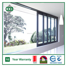Australia standard AS2047 multi sash aluminium sliding windows for balcony