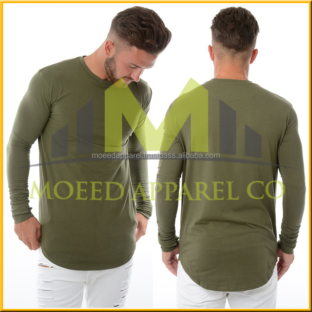 TX0496 Men Sexy Deep V Neck Blank Muscle Fit White Tshirt Long Sleeve Wholesale