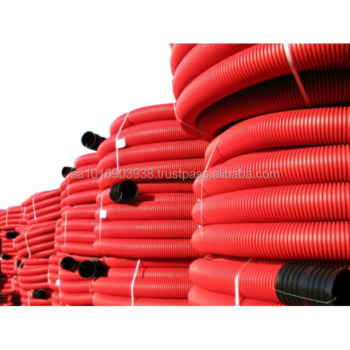 HDPE Double Wall Corrugated Pipe for Electrical Cable Protection