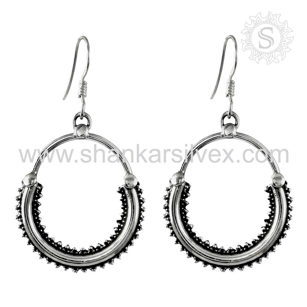 Lovely Fashion Of Handmade Dangle Earring Silver Jewelry Wholesale 925 Sterling Silver Earring Exporter