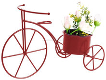 Decorative red bicycle planter for garden & home decortaion