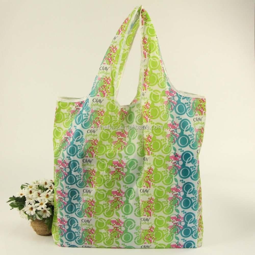 foldable polyester tote bag for shopping