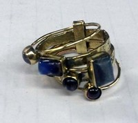 New Fashion Multi stone Long Pure Brass Finger Ring