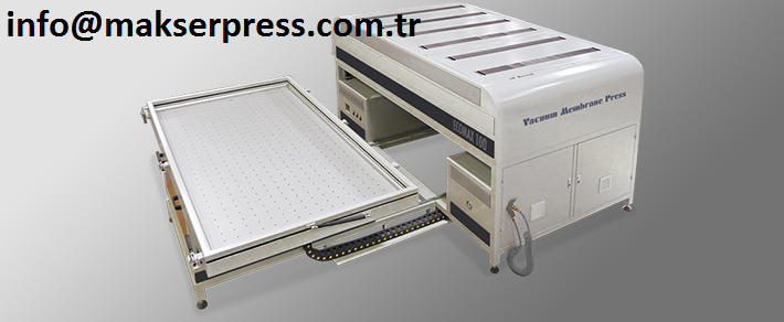 Makserpress Ecomax 100 vacuum membrane press machine / Single table vacuum membrane press / special vacuum press pvc veener