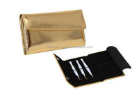 Straight & Curved Eyelash Extension Tweezers Leather Case to protect your Tweezers