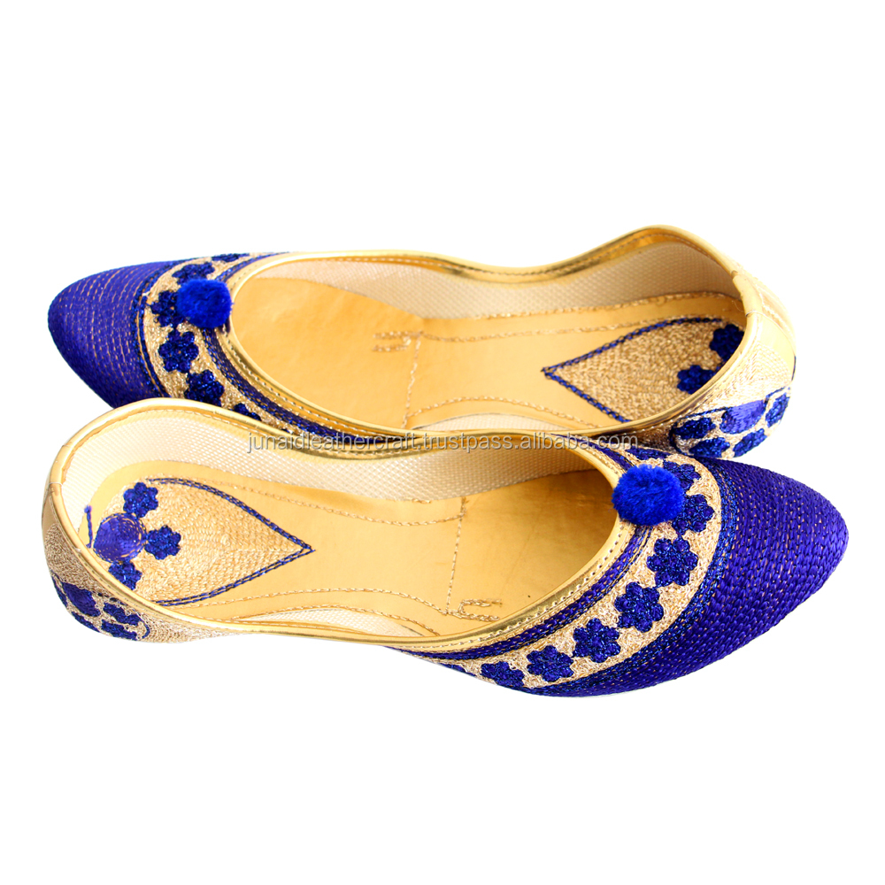Latest punjabi leather belly&rubber sole ladies shoes