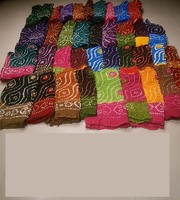 Indian Multicoloured Cotton Bandhani Dupattas