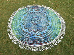 100% cotton printed round mandala tapestry hippie