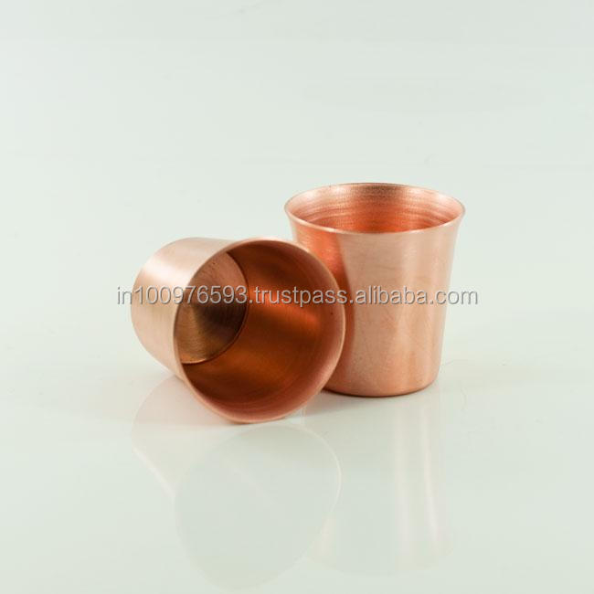 Pure Copper Shot Glass cup 2 Oz