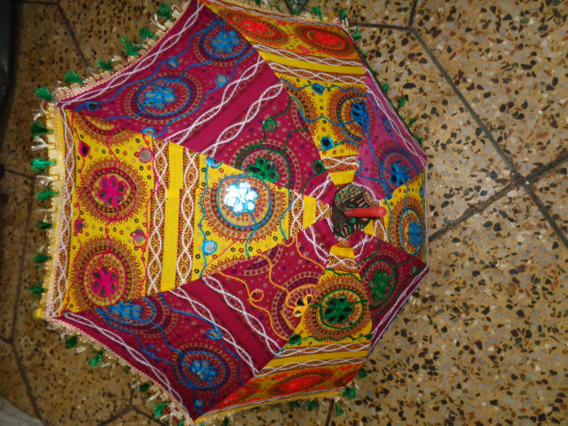 patchwork decorative umbrellas from india