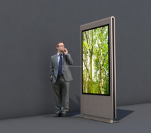 Outdoor / Indoor LCD Digital Display Kiosk