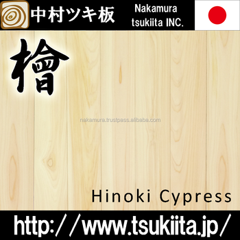 Luxury and Premium interior design hinoki cypress flooring with end matched tongue and groove made in Japan