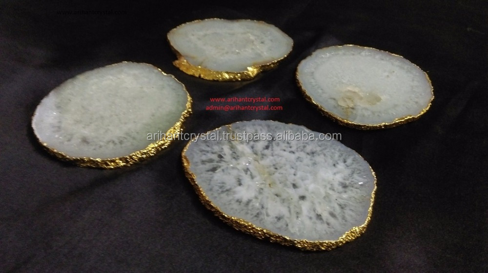 Crystal Quartz Coaster Set