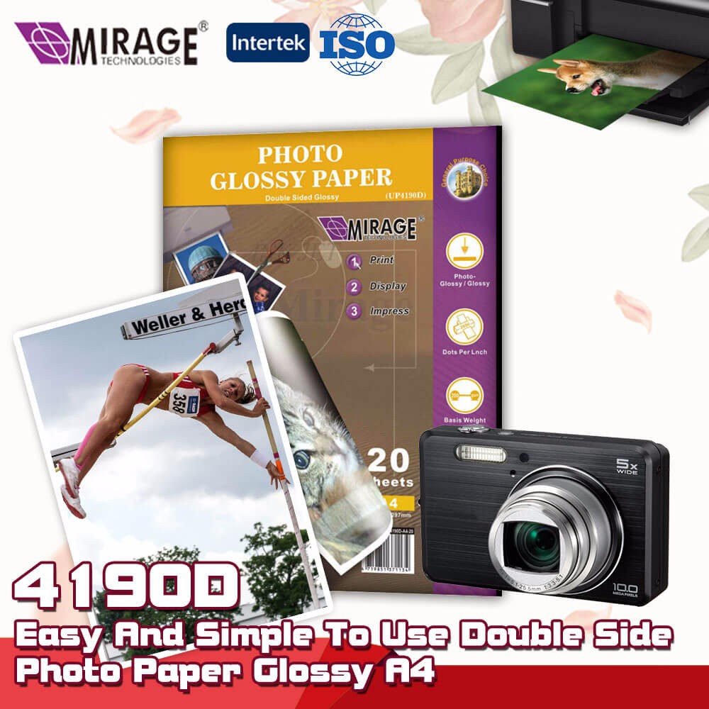 Easy Simple To Use Double Side Photo Paper Glossy A4