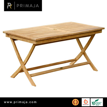 Outdoor Teak Furniture Rectangular Folding Table Indonesia Furniture