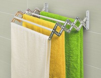 ArtMoon Alberta Clothes Dryer Extendable Wall Mounted 5 Pull Out Rails Painted Steel White 50x38.5x9.5 cm