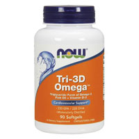 Tri 3D Omega, 90 sgels by Now Foods