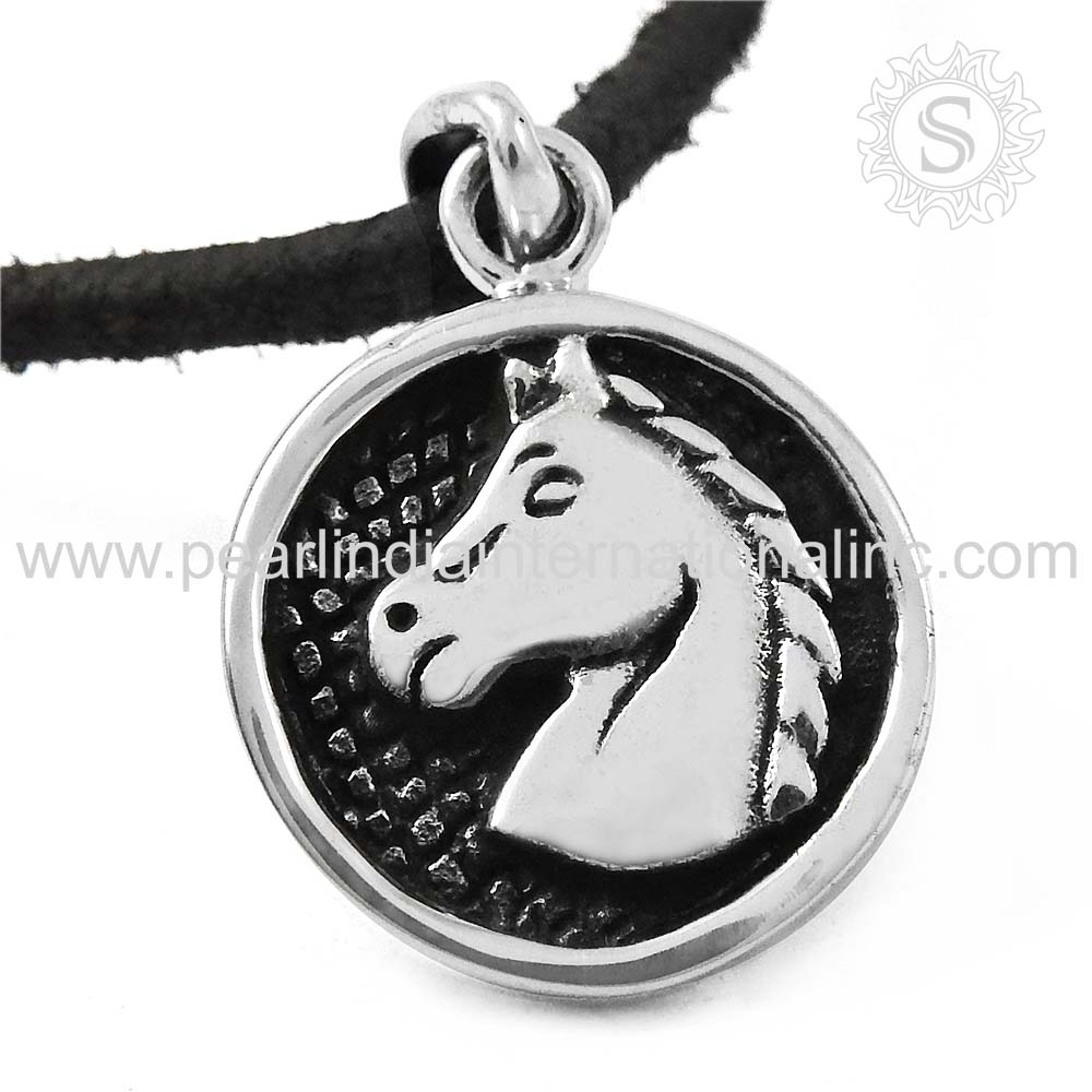 Horse Pendant 925 Sterling Silver Jewelry Wholesale