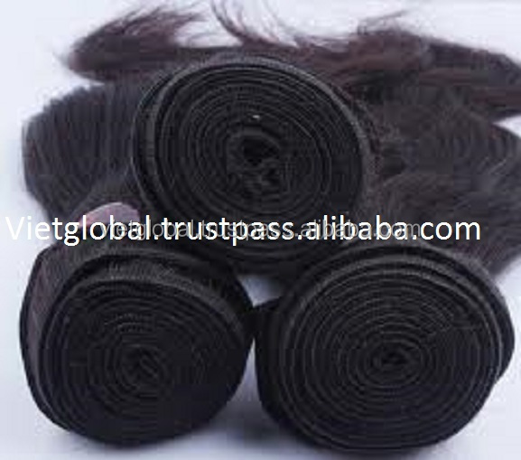 Double drawn straight hair, human natural soft remy hair from Vietglobalhair reliable online shopping brand