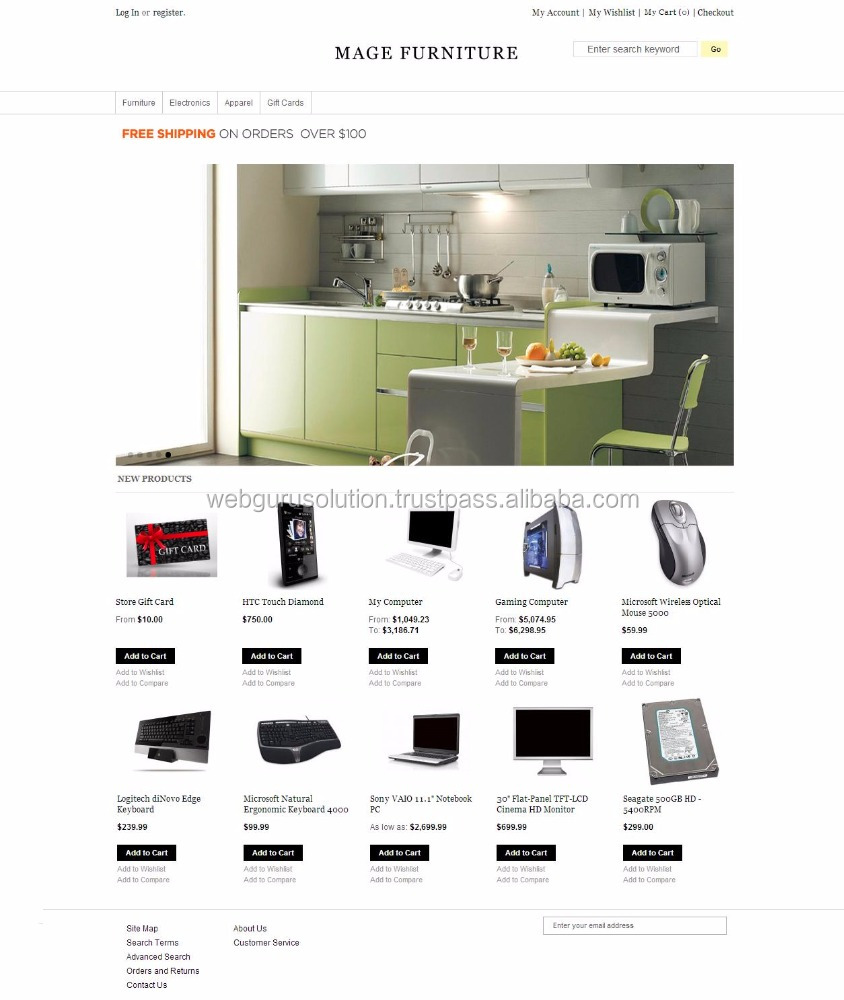 E commerce Website designing and development India Other Electronic Components